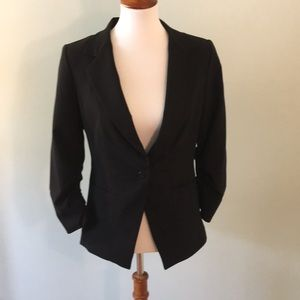Black Size 10 Red Saks Fifth Ave Blazer Jacket